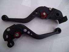 KTM 990 SMR 2012, CNC levers set short black & red adjusters D01/C31